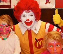 Mød klovnen Ronald McDonald's