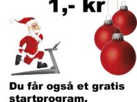 Træn resten af 2016 for 1 krone