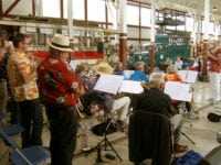 Basie Trust Big Band tegner sig for den ældste musikalske tradition på Sporvejsmuseet, idet jazz-bigbandet for længst har haft 25 års jubilæum på Sporvejsmuseet. Orkestret er under ledelse af Per Vadmand, Vigersted, der er blandt museets frivillige medarbejdere. Foto: Sporvejsmuseet.