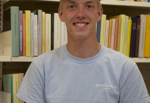 Nikolaj Bressendorf-Jakobsen, bogopsætter og student 2019. Foto: Ringsted Bibliotek.