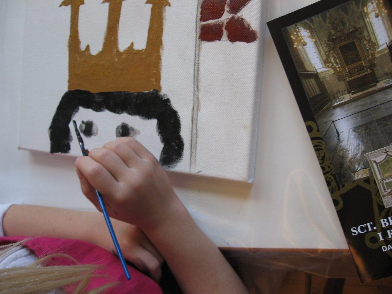Kalkmaleri på lærred i vinterferien på Ringsted Museum og Arkiv
