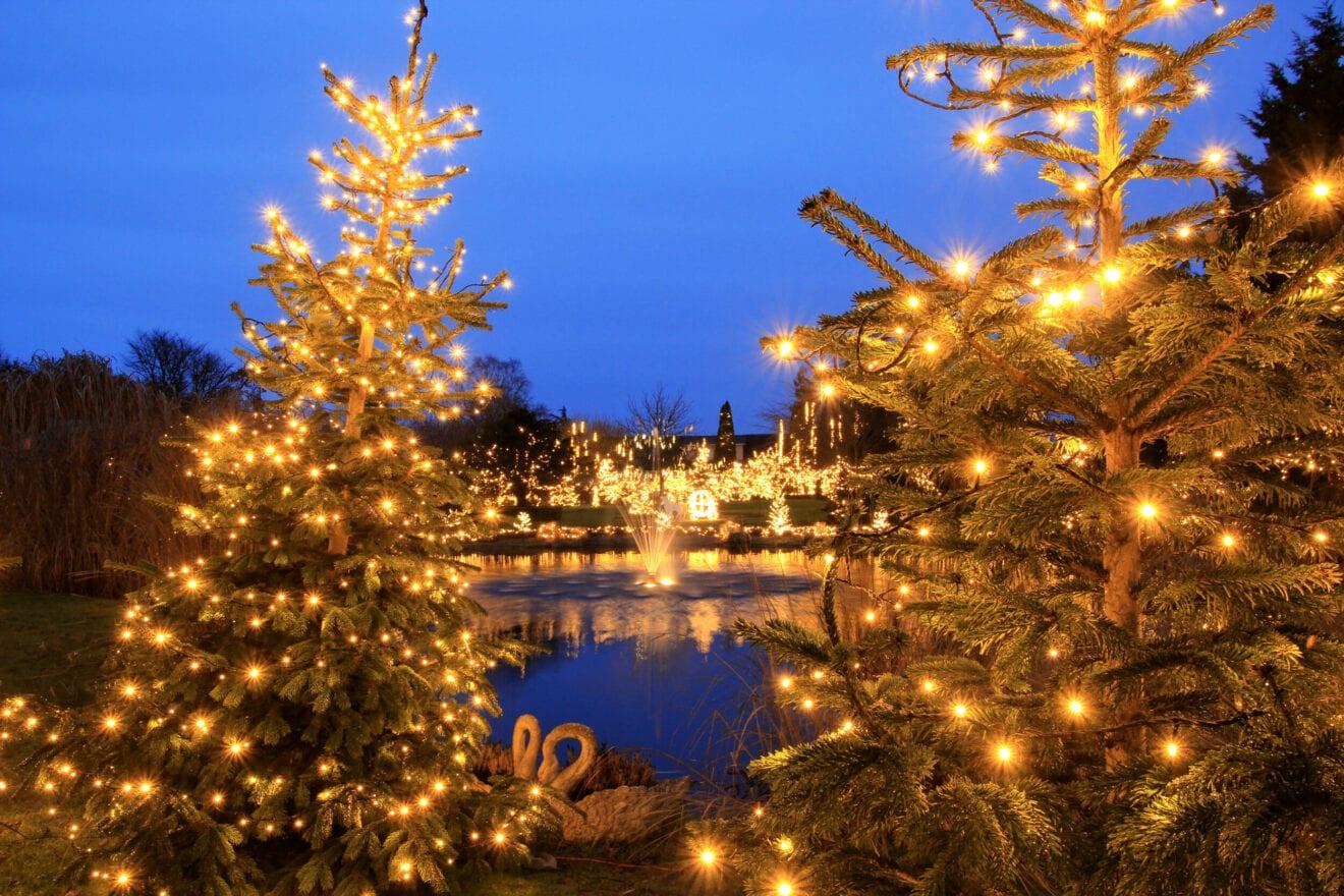 Tusindevis af funklende julelys