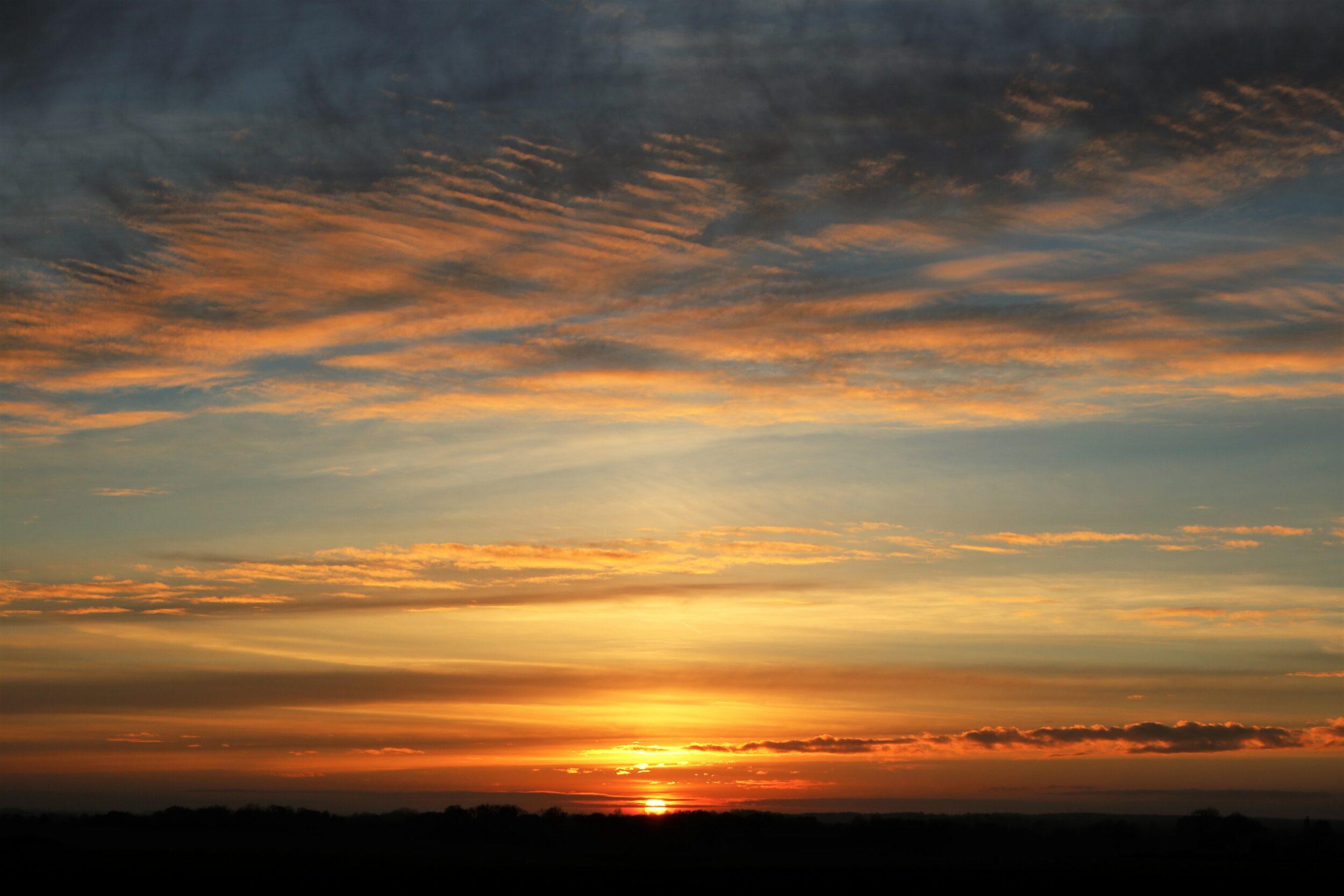 Man bliver aldrig træt af en smuk solnedgang