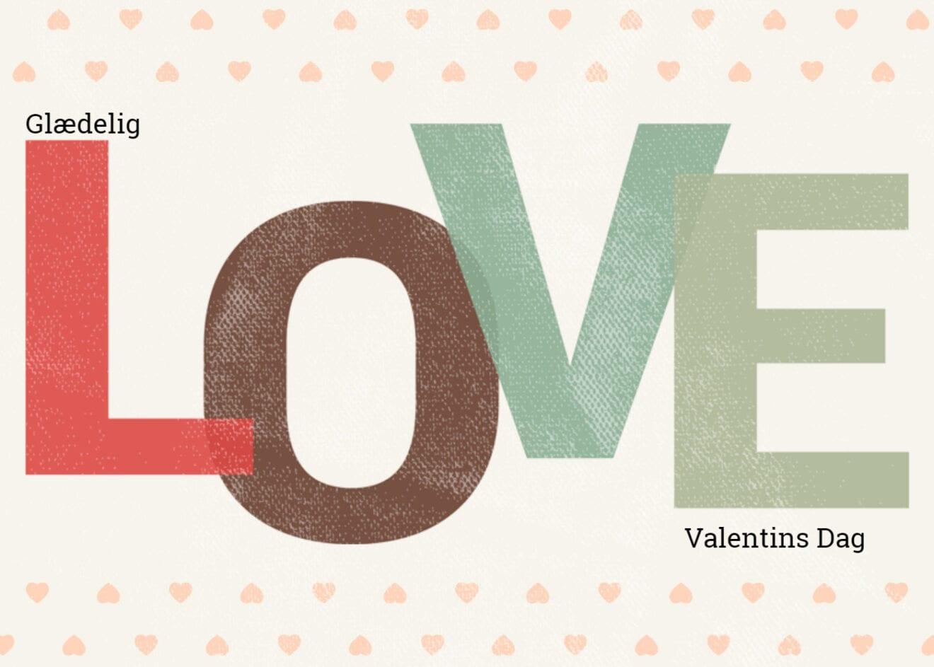 Husk valentines dag på søndag
