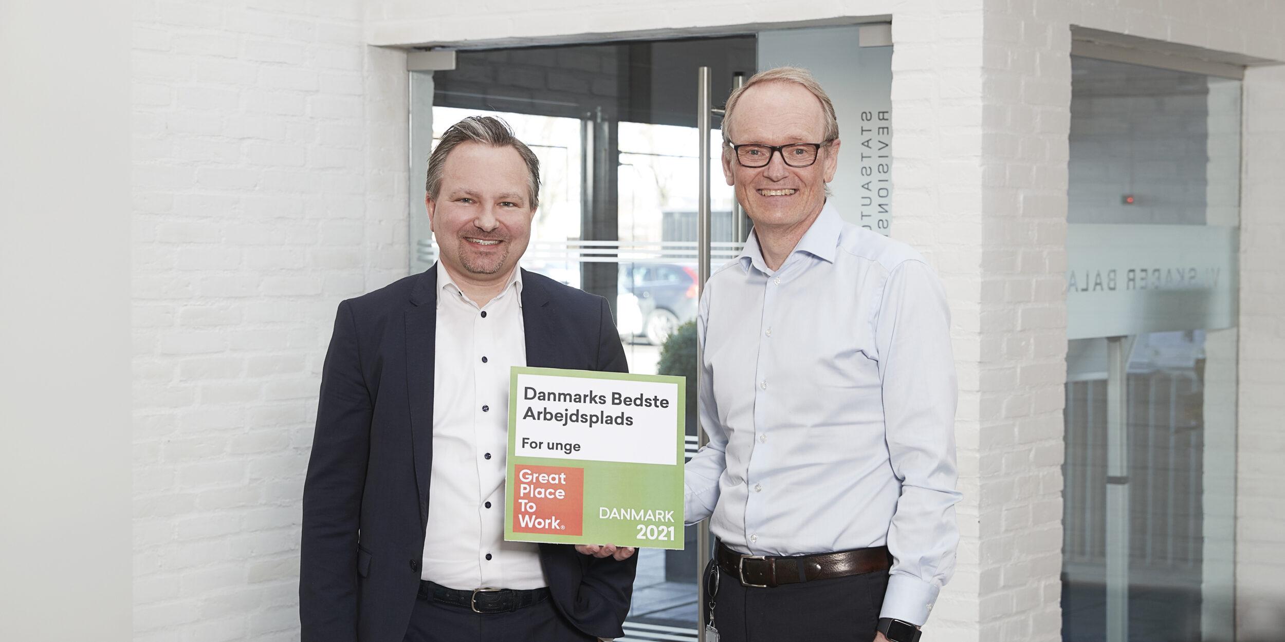 Danmarks bedste arbejdsplads  for unge under 25 år